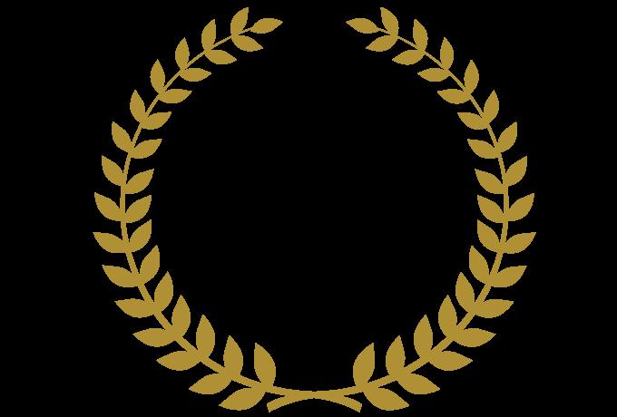 飾りフレームNo.00063 : Laurel Crown 3のPNG Transparent Image