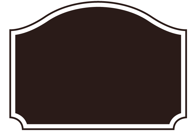 飾りフレームno 00083 Curved Roof Labelのpng Transparent Image
