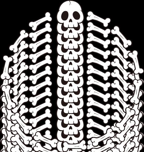 Frame No.00321 : skull and bones round | free design frame vectors ...